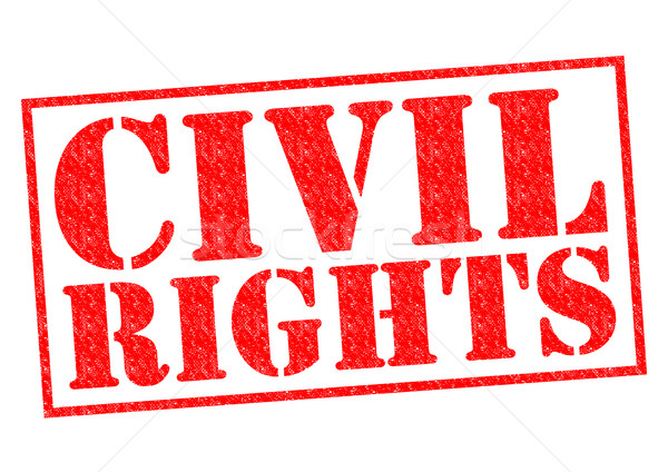Polgári jogok piros pecsét fehér verseny szabad Stock fotó © chrisdorney