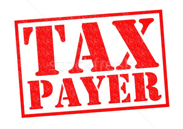 Photo stock: Impôt · rouge · blanche · argent · financière