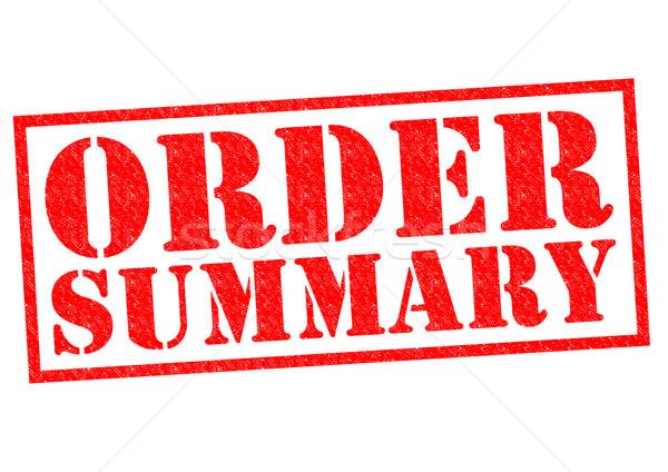 Stok fotoğraf: Sipariş · özet · kırmızı · beyaz · alışveriş
