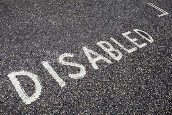 Disabled Parking Bay Stock photo © chrisdorney