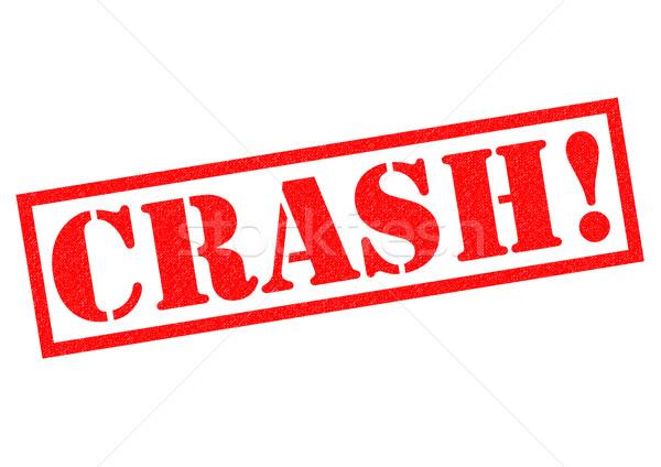 Crash czerwony biały awaryjne tag Zdjęcia stock © chrisdorney