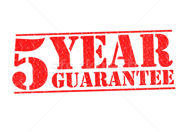 Stock photo: 5 YEAR GUARANTEE