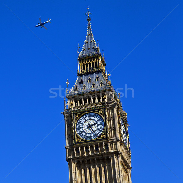Aircraft Flying over Westminster Stock photo © chrisdorney
