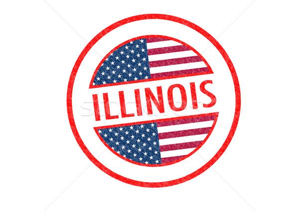 Illinois beyaz seyahat tatil düğme Stok fotoğraf © chrisdorney