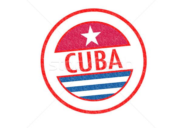 CUBA Rubber Stamp Stock photo © chrisdorney