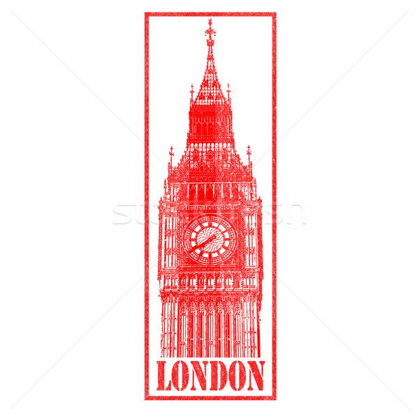 Big Ben grand rouge blanche Angleterre Photo stock © chrisdorney