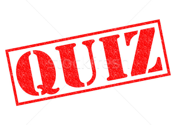 QUIZ Rubber Stamp Stock photo © chrisdorney