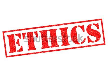 Ethik rot weiß Recht Pflege Stock foto © chrisdorney