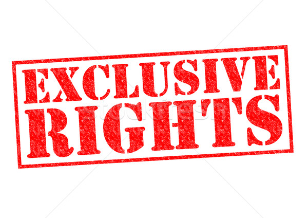 Stock photo: EXCLUSIVE RIGHTS