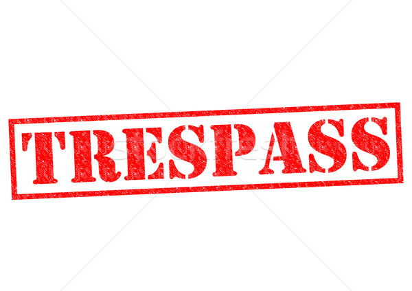 TRESPASS Stock photo © chrisdorney