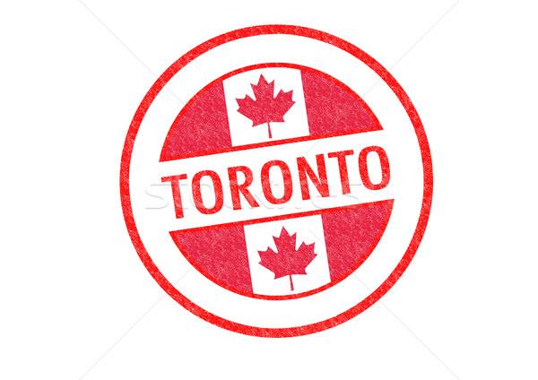 Toronto blanco bandera vacaciones botón Foto stock © chrisdorney