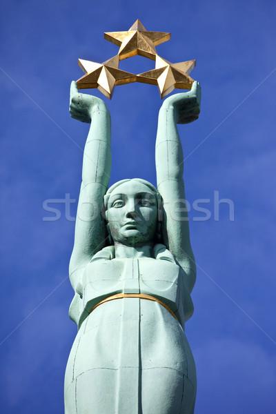 The Freedom Monument in Riga Stock photo © chrisdorney