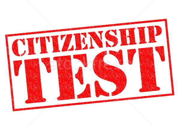 Vatandaşlık test kırmızı beyaz pasaport Stok fotoğraf © chrisdorney