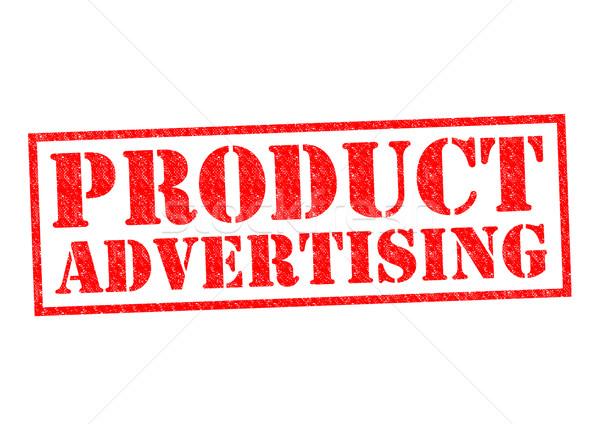 Produktu reklamy czerwony biały obrotu Zdjęcia stock © chrisdorney