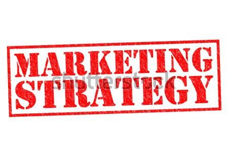 Estratégia de marketing vermelho branco mercado marketing Foto stock © chrisdorney