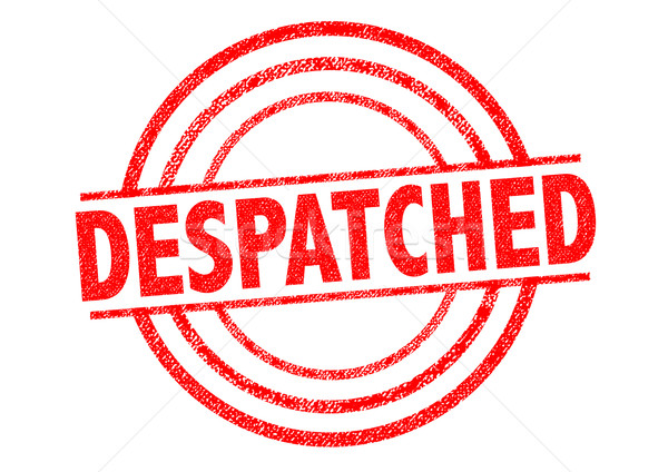 Stock photo: DESPATCHED Rubber Stamp