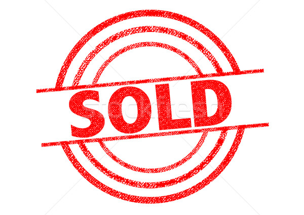 Stock photo: SOLD Rubber Stamp