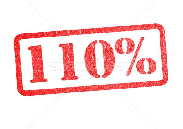 110% Rubber Stamp Stock photo © chrisdorney