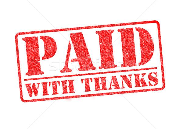 支払われた 感謝 赤 白 お金 ストックフォト © chrisdorney