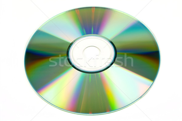 CD (Compact Disc) laid out on a white background. Stock photo © chrisdorney