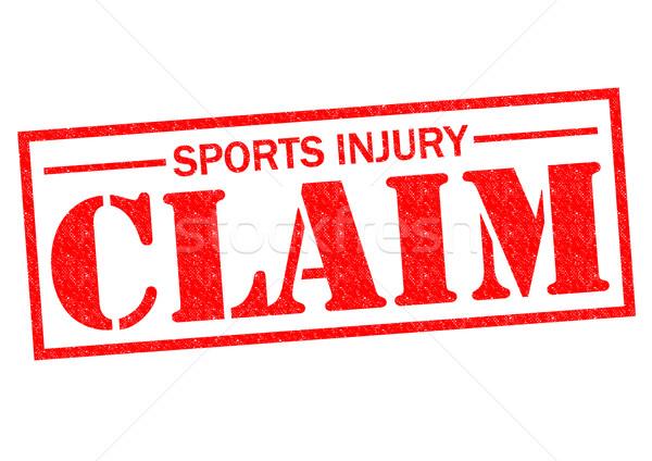 Sportsérülés követelés piros pecsét fehér sport Stock fotó © chrisdorney