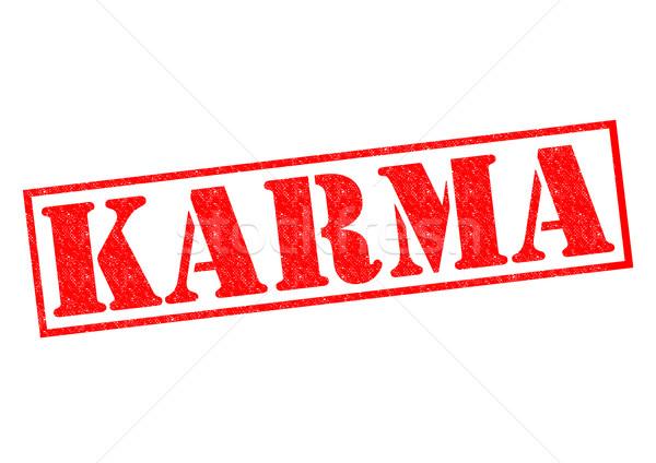 Karma piros pecsét fehér erő gonosz Stock fotó © chrisdorney