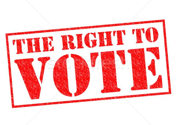 THE RIGHT TO VOTE Stock photo © chrisdorney