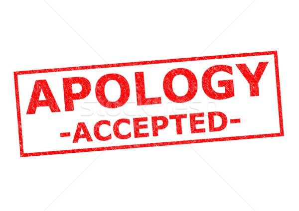 извинение красный тег резиновые наклейку Сток-фото © chrisdorney