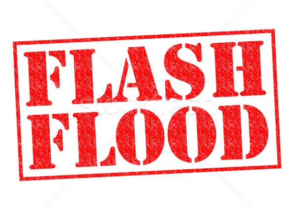 Flash наводнения красный белый воды Сток-фото © chrisdorney