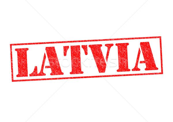 Letonia blanco ciudad viaje botón Foto stock © chrisdorney