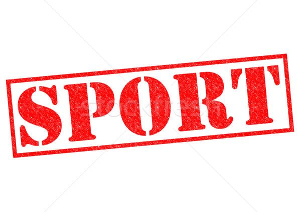 Deporte rojo blanco fútbol deportes Foto stock © chrisdorney