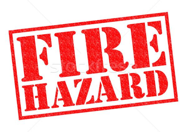 FIRE HAZARD Stock photo © chrisdorney
