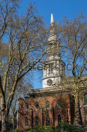 Kerk Liverpool hal tegenover eerste tijd Stockfoto © chrisdorney