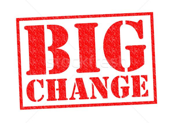 BIG CHANGE Stock photo © chrisdorney