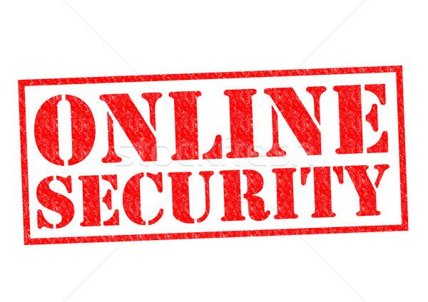 çevrimiçi güvenlik kırmızı iş bilgisayar Stok fotoğraf © chrisdorney