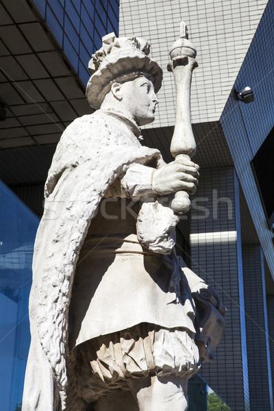 Statue of King Edward VI at St. Thomas's Hospital in London Stock photo © chrisdorney