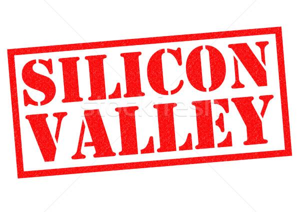 Silikon vadi kırmızı beyaz bilgisayar Stok fotoğraf © chrisdorney