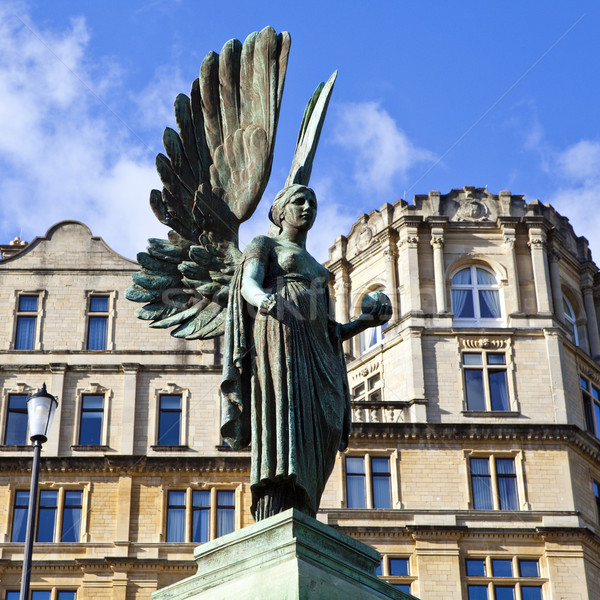 Angel statue in Parade Gardens in Bath Stock photo © chrisdorney