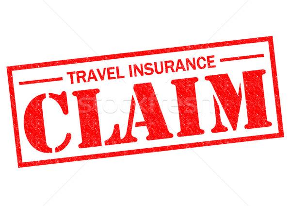 Reizen verzekering beweren Rood witte Stockfoto © chrisdorney