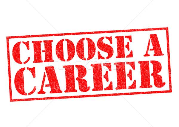 Stok fotoğraf: Seçmek · kariyer · kırmızı · beyaz · para