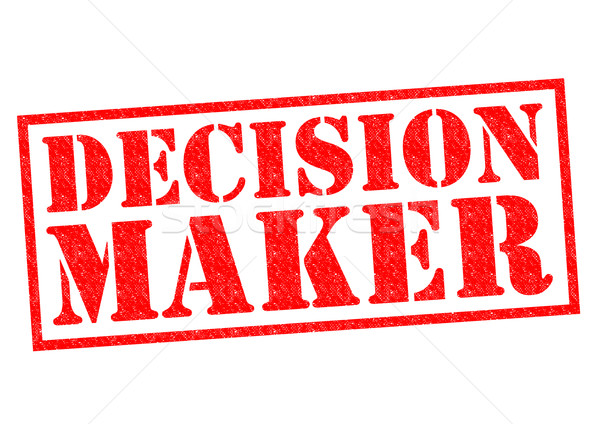 DECISION MAKER Stock photo © chrisdorney