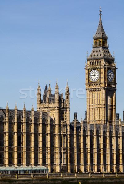 Maisons parlement Londres ville westminster temps Photo stock © chrisdorney
