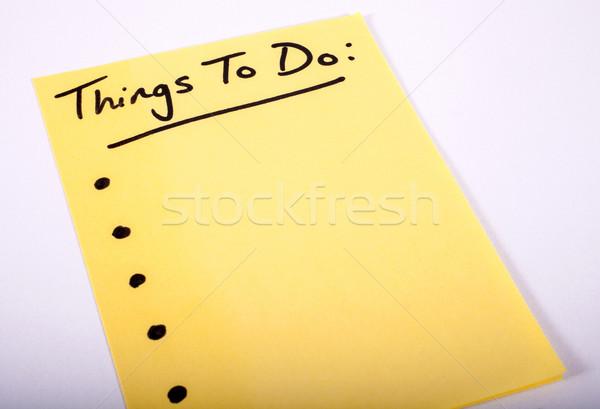 Dolgok írott darab levélpapír iroda papír Stock fotó © chrisdorney