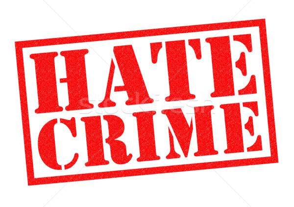 Nefret suç kırmızı beyaz polis Stok fotoğraf © chrisdorney