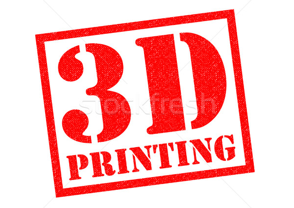 3D impressão vermelho branco computador Foto stock © chrisdorney
