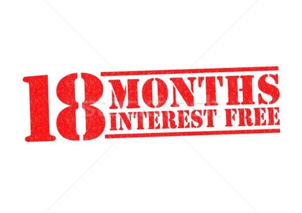 18 MONTHS INTEREST FREE Stock photo © chrisdorney