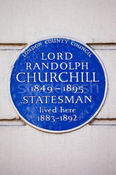 Kék fogkő London lakás brit apa Stock fotó © chrisdorney
