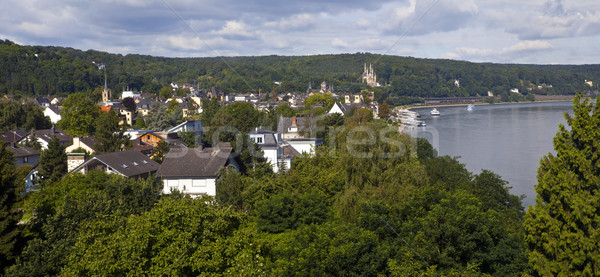 Remagen and the Rhine in Germany Stock photo © chrisdorney