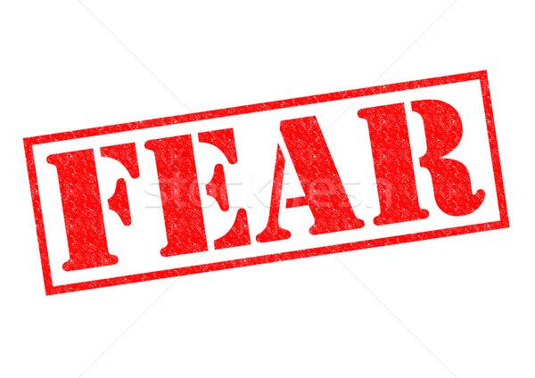 FEAR Rubber Stamp Stock photo © chrisdorney