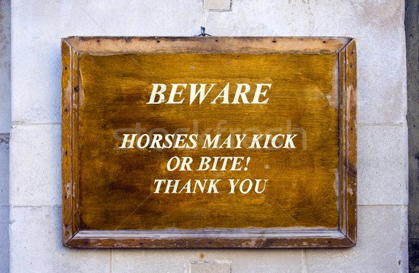 Warning Sign at Horseguards Parade in London Stock photo © chrisdorney